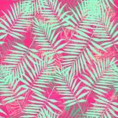 """Постер, картина, фотообои """"тропических пальмовых листьев шаблон"""""""