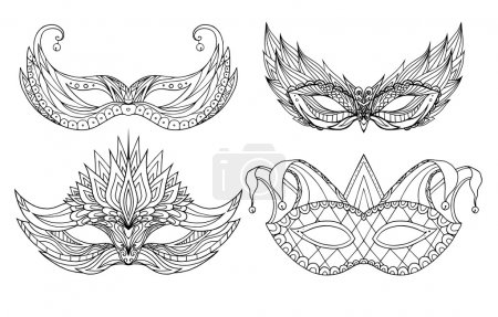 doodle face holiday masks.