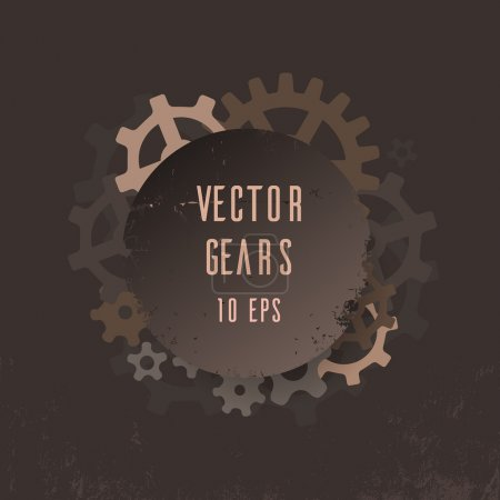 Photo for Steampunk Cover with gears for your creativity - Royalty Free Image
