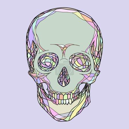 stylizowane czaszki człowieka