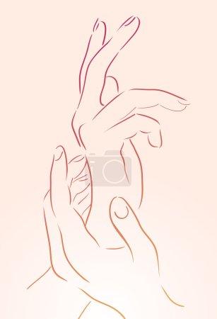 Female  hands  for yoga