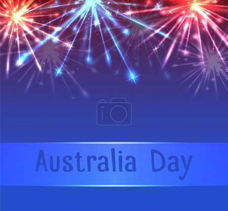 Vector card with fireworks
