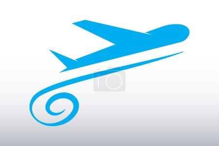 Illustration pour Avion - concept de logo vectoriel. Avion d'illustration. Modèle de logo vectoriel. Style très classique. Silhouette pour les compagnies de transport aérien et de voyage. Logo d'agence de voyage. Éléments de conception. - image libre de droit