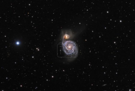 M51 Whirlpool Galaxy Real Photo