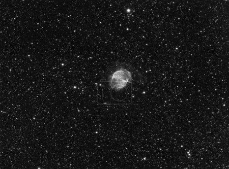 M27 Dumbbell Nebula in Hydrogen-Alpha Real Photo