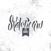 grunge skateboard logo design