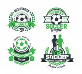 football soccer logo set