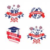 graduation class 2016 logo set