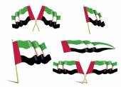 united arab emirates flags set