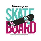 Skateboard freestyle t-shirt vintage design