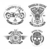 Illustration setI like motorcycles