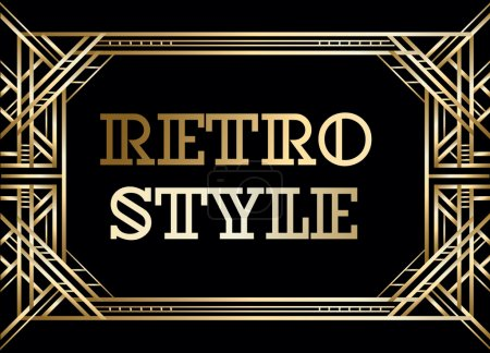 Retro pattern for vintage party