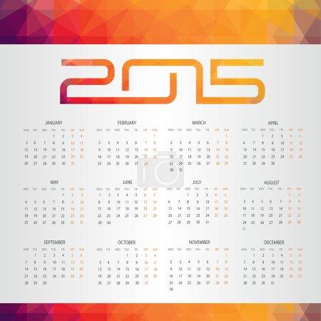 Calendar for 2015 geometric pattern