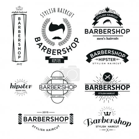 Classic icon set Barbershop