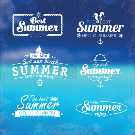 Abstract beach summer logo design template