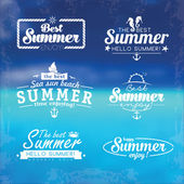 Abstract beach waves design on the theme of summer delights concept organization of beach parties vector logo design template