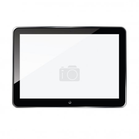 Modern tablet on a white background