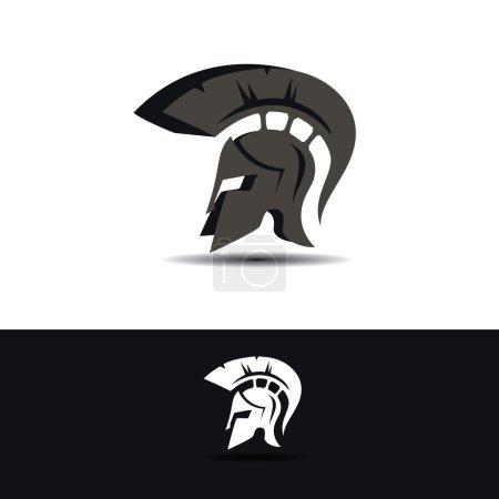 Abstract greek helmet icon