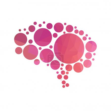 Illustration for Vector illustration of abstract human brain - Royalty Free Image