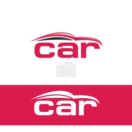 Illustration pour Modèle de logo concessionnaire de voiture. emblème de salle d'exposition de voitures. vecteur - image libre de droit