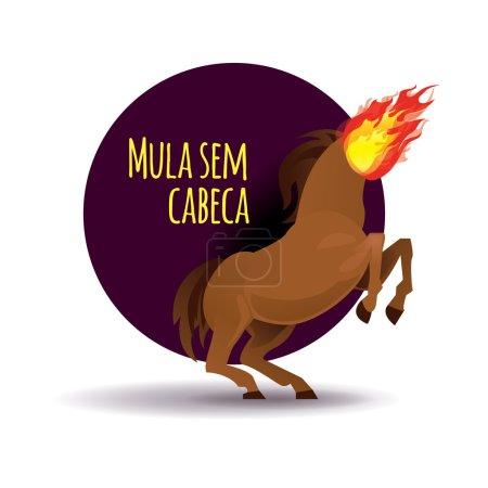 Mula sem cabeca, Brazilian horse