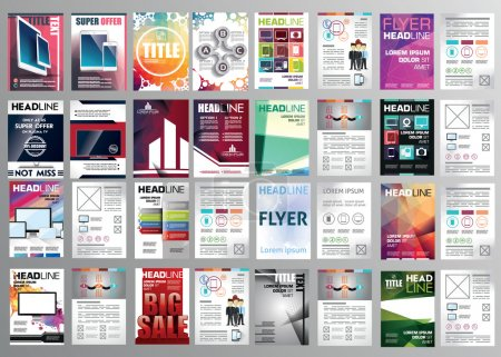 Set of flyers, posters, brochures