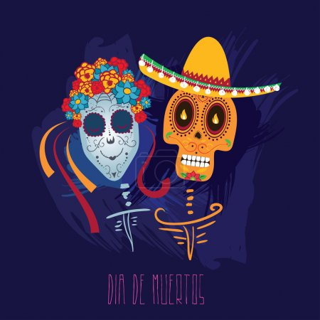 Mexican Day of Dead Poster