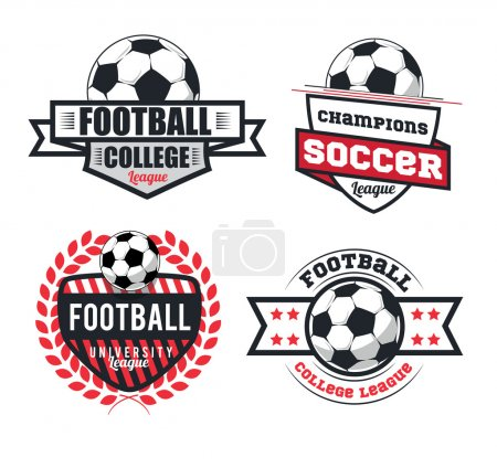 Football, soccer logo set