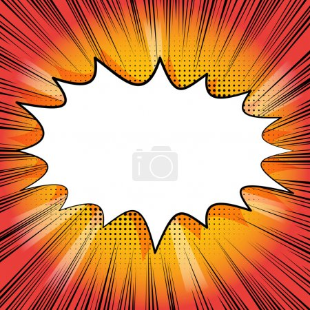 Illustration for Retro style comic book background with blank space for your text. - Royalty Free Image