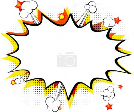 Illustration for Explosion, isolated retro style comic book background. - Royalty Free Image