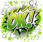 Ok - Comic book cartoon expression