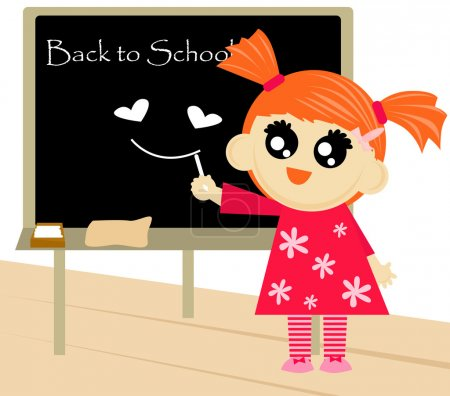 Little girl with blackboard