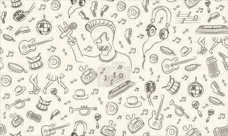 Musical seamless pattern