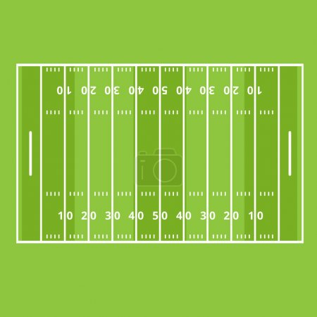 Illustration for Marking the field of play American football - Royalty Free Image