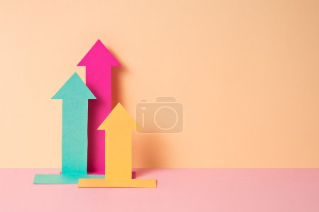 colorful paper craft infographics . business theme