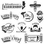 Barbershop tool collection, set of barbershop inst...
