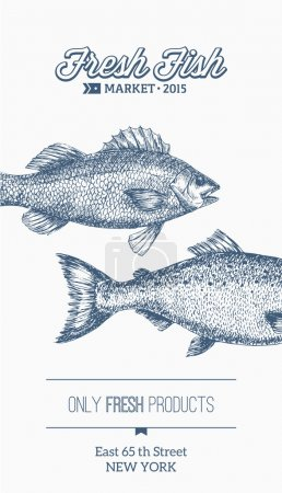 Engraved fish template design.