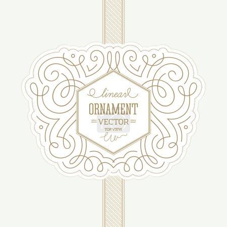 Linear ornamental design template.