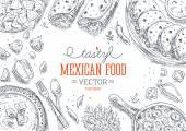 """Постер, картина, фотообои """"Мексиканские продовольствия кадр."""""""