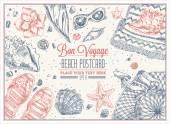 Vacation Frame Bon Voyage Vector illustration