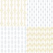 Set of simple seamless patterns Vector illustration