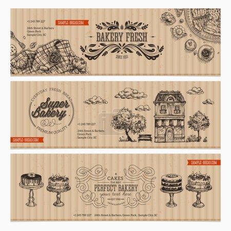 Cardboard Vintage Bakery banner collection