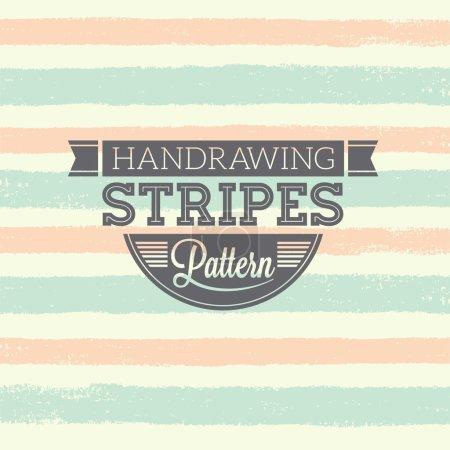 Illustration pour Pattern rayures à la main. Illustration vectorielle - image libre de droit