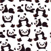 Seamless pattern with panda Vector illustration
