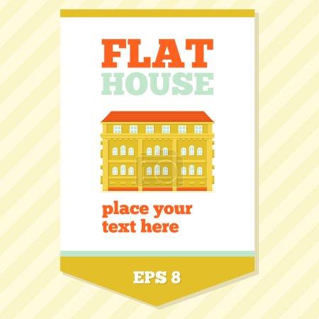 Flat House Card
