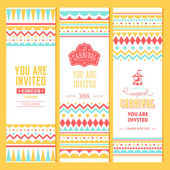 Carnival banner collection Vector illustration