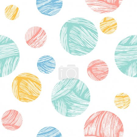 Illustration for Doodle circles fun background. Vector illustration - Royalty Free Image