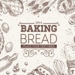 Baking Bread Frame. Vector illustration...