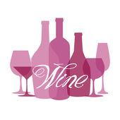 Víno seznam design pro bar a restaurace