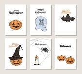 Halloween Posters set Vector illustration Flyer